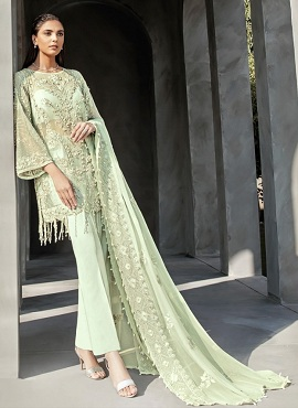 Serene Reign Faux Georgette Heavy Pakistani Salwar Suits Collection