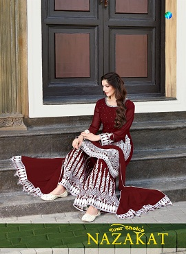 Y.c Nazakat Georgette Casual Wear Designer Dress Material Collection