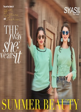 Syasii Summer Beauty Fancy Elegant Western Ladies Top Collection