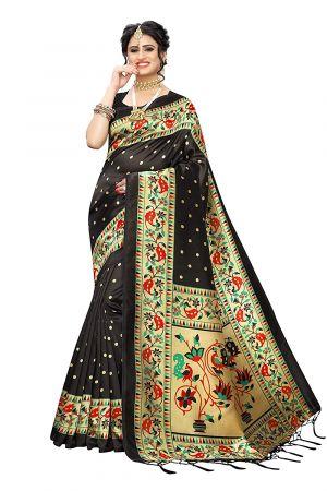 Katwali Festive Wear Printed Art Silk Sarees Collection