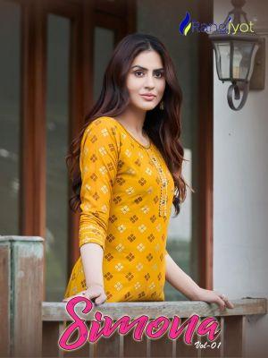 Rangjyot Simona 1 Designer Casual Wear Kurti With Bottom Collection