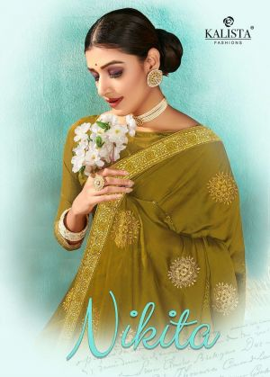Kalista Nikita Party Wear Designer Chiffon Saree Collection