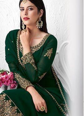 Saffron 8348 Series Heavy Georgette Designer Salwar Suits Collection