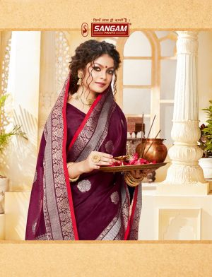 Sangam Indian Handloom Festive Wear Handloom Cotton Saree Collection