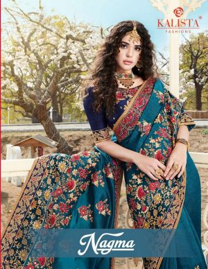 Kalista Nagma Festive Wear Embroidery Worked Sarees Collection