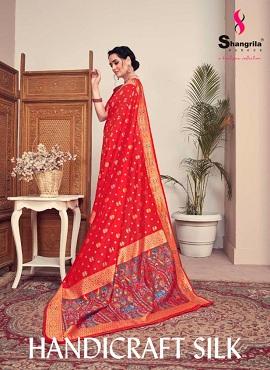 Shangrila Handicraft Silk Rich Kashmiri Weaving Silk Sarees Collection