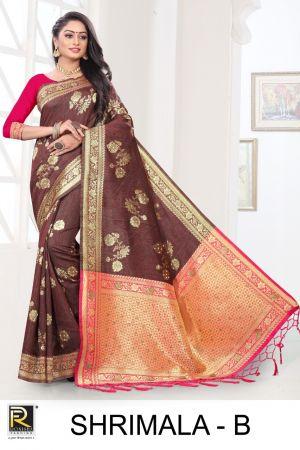 Ronisha Shrimala Casual Wear Designer Cotton Saree Collection