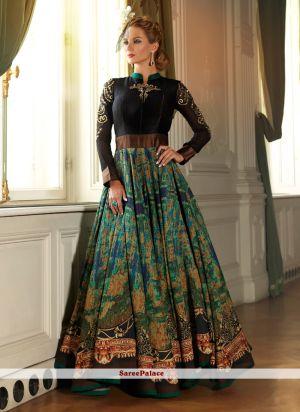 Shesha 5002 Digital Printed Embroidery Work Ladies Gown