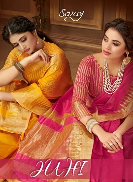 Saroj Juhi Cotton Silk Festive Wear Cotton Sarees Collection