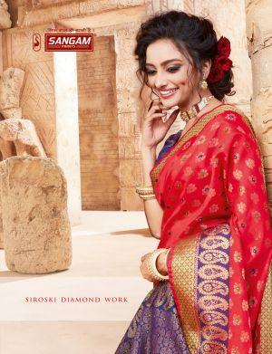 Sangam Shantanam Festive Wear Handloom Silk Sarees Collection
