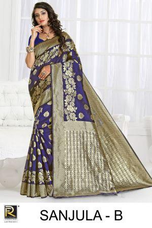 Ronisha Sanjula Fancy Festive Wear Silk Saree Collection