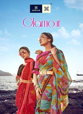 Hirva Glamour Regular Wear Georgette Printed Sarees Collection