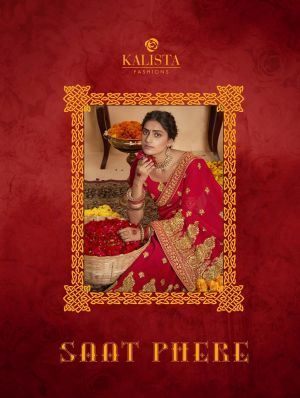 Kalista Saat Phere Georgette Embroidery Worked Sarees Collection
