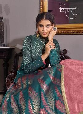 Virasat Muskan 1070 Exclusive Jacquard Designer Gown Collection