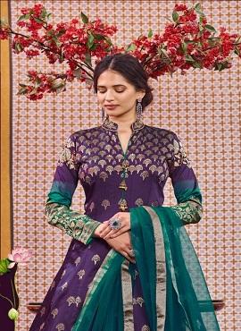 Virasat Muskan 1071 Exclusive Jacquard Designer Gown Collection