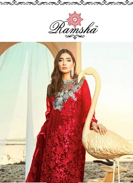 Ramsha R 115 Nx Heavy Embroidery Pakistani Salwar Suits Collection