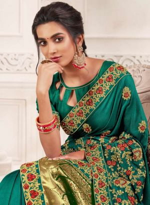Kalista Dulhan Festive Wear Embroidery Worked Sarees Collection