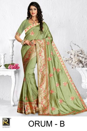 Ronisha Orum Embroidery Worked Saree Collection