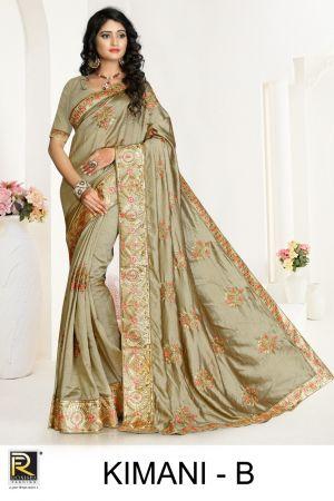 Ronisha Kimani Embroidery Worked Saree Collection