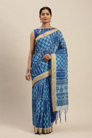 Indigo 1.1 Casual Linen Cotton Printed Saree Collection