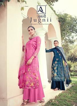 Alok Jugnii 2 Jam Cotton Digital Print Designer Dress Material Collection