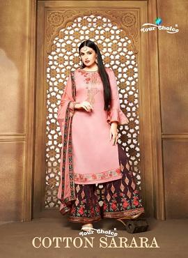Y.c Cotton Sarara Jam Silk Designer Salwar Suits Collection