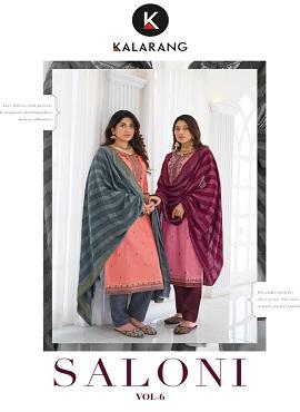 Kalarang Saloni 6 Embroidery Work Designer Dress Material Collection
