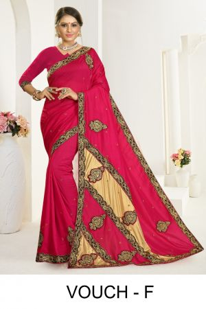 Ronisha Vouch Casual Wear Embroidery Worked Sarees Collection