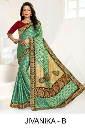 Ronisha Jivanika Jacquard Embroidery Worked Sarees Collection