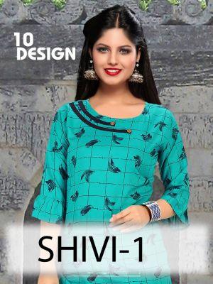 Trendy Shivi 1 Casual Wear Rayon Designer Kurtis Collection