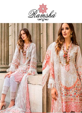 Ramsha R 252 Nx Heavy Embroidery Pakistani Salwar Suits Collection