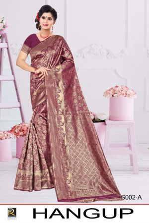 Ronisha Hangup Silk Fancy Casual Wear Silk Saree Collection