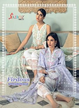 Sairoz Firdous Digital Printed Embroidery Pakistani Salwar Suits Collection
