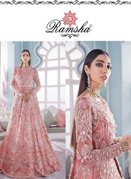 Ramsha R 285 Nx Heavy Embroidery Pakistani Salwar Suits Collection