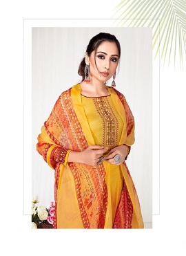 Anita Kesariya Zaara Cotton Designer Dress Material Collection