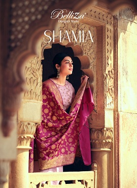 Belliza Shamia Embroidery Work Designer Dress Material Collection