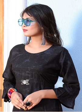 Trendy Fitoor Casual Wear Rayon Printed Long Kurtis Collection