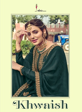 Eba Khwaish Blooming Georgette Designer Salwar Suits Collection