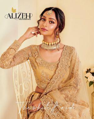 Alizeh The White Bride Net Wedding Wear Lehenga Collection