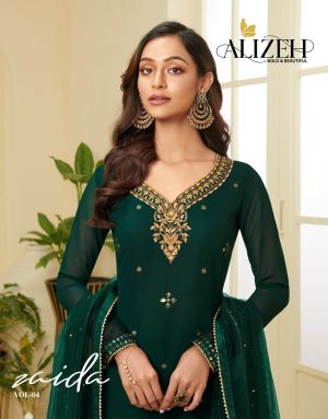 Alizeh Zaida 4 Georgette Designer Salwar Suits Collection