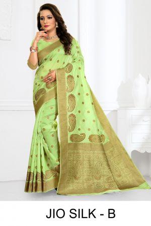 Ronisha Jio Silk Casual Wear Premium Silk Sarees Collection