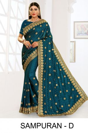 Ronisha Sampuran Casual Wear Embroidery Worked Sarees Collection