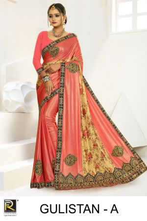 Ronisha Gulistan Embroidery Warked Saree Collection