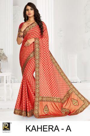 Ronisha Kahera Festive Wear Embroidery Worked Sarees Collection