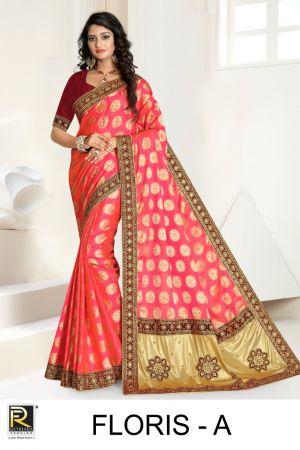 Ronisha Floris Festive Wear Saree Collection