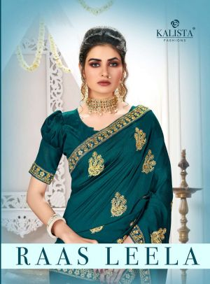 Kalista Raas Leela Heavy Embroidery Worked Saree Collection