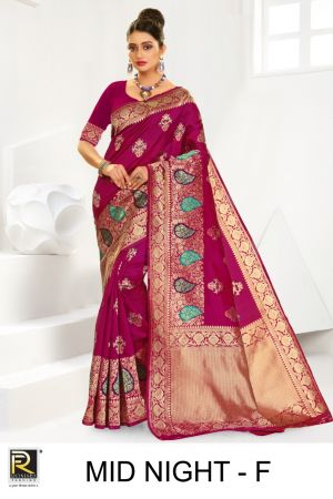 Ronisha Mid Night Silk Fancy Casual Wear Saree Collection