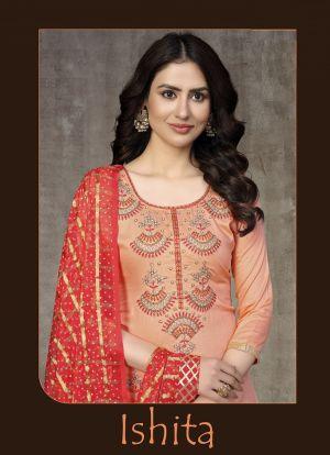 Ishita Glass Cotton Party Wear Designer Salwar Suits Collection