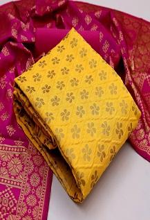 Rnx Banarasi Bubbles 1 Banarasi Silk Dress Material Collection