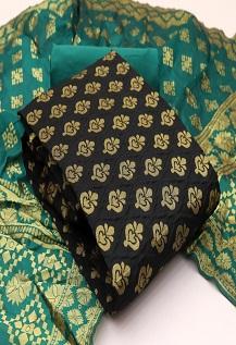 Rnx Banarasi Bubbles 3 Banarasi Silk Dress Material Collection